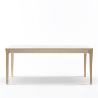 Birk matbord laminat, vit i gruppen Möbler / Bord / Matbord hos RUM21 AB (123499)
