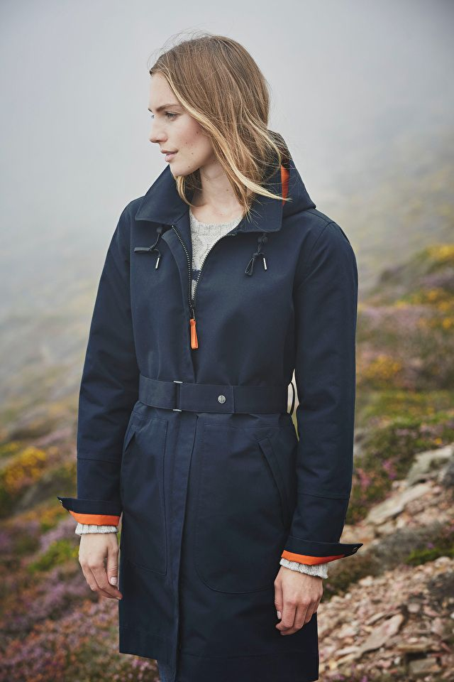 A thing of beauty - a long, waterproof, stylish raincoat! In Seasalt's unique fabrics, with features that are guaranteed to keep you dry & looking good.