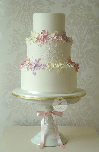 Summer Garden wedding cake | Flickr - Photo Sharing!