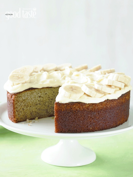 Banana cake with cream cheese frosting: The riper the bananas the better for this classic afternoon tea cake.