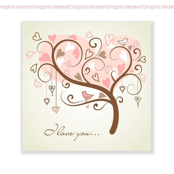 I love You Card III - Luvly Marketplace   Premium Design Resources #cards #digitalcards