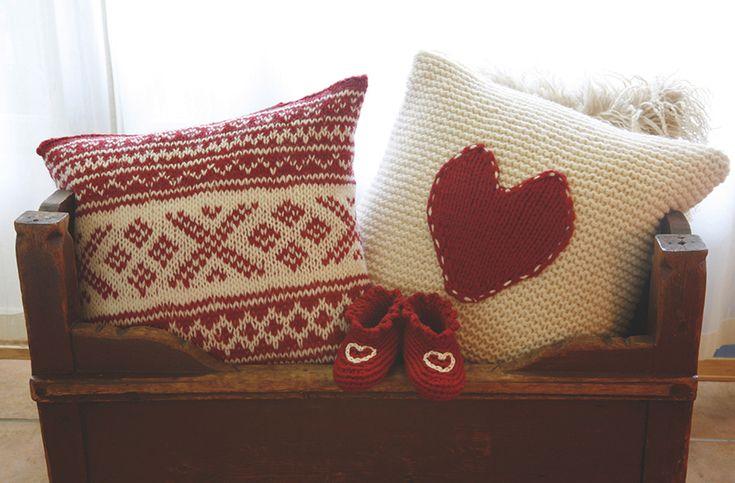 Sofa pillows, intermediate skill level.