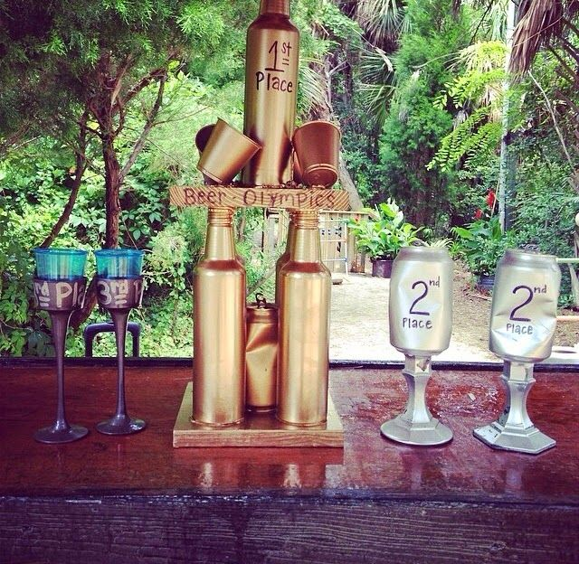 beer olympic trophies