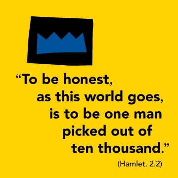 an analysis of integrity in hamlet by william shakespeare Personal integrity in shakespeare's hamlet to thine ownself be true most of us are familiar with the above quote taking from shakespeare's hamlet, but how many of us know this verse: and it must follow, as the night the day, thou can not then be false to any man unless we can be true to.
