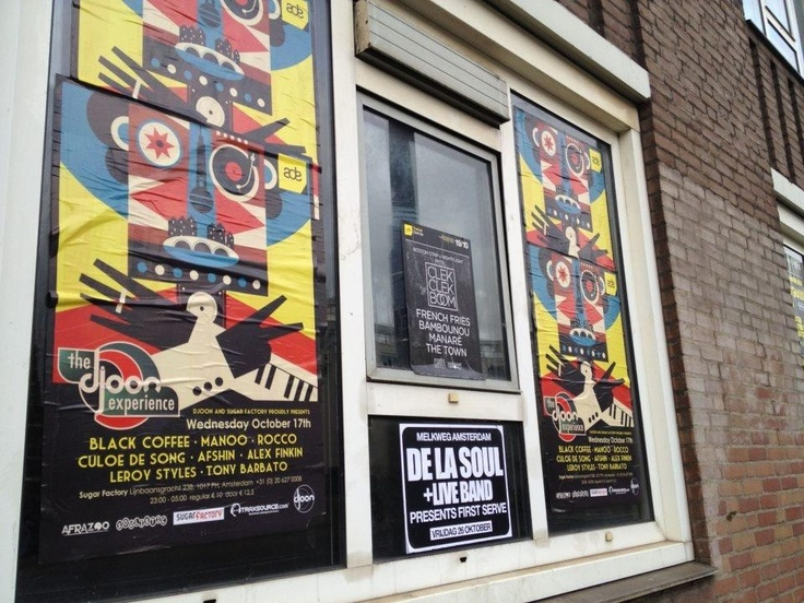 The Djoon Experience Poster on The wall in Amsterdam