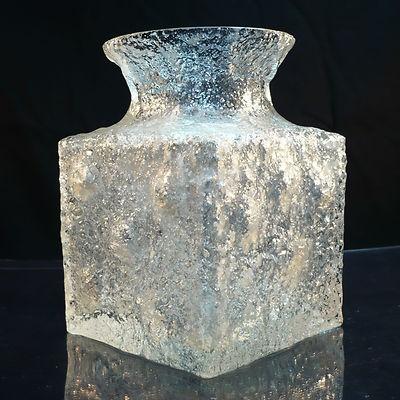 Glas Vase • Timo Sarpaneva • Crucus • Iittala • Signiert • Finland
