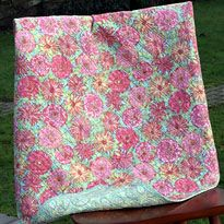 Whole Cloth Quilt - good for learning the mechanics of quilting