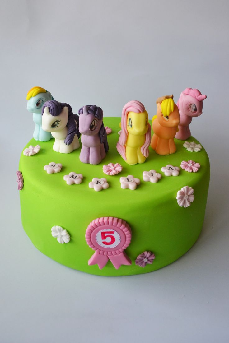 MY LITTLE PONNY - 6 edible figures cake toppers decoration