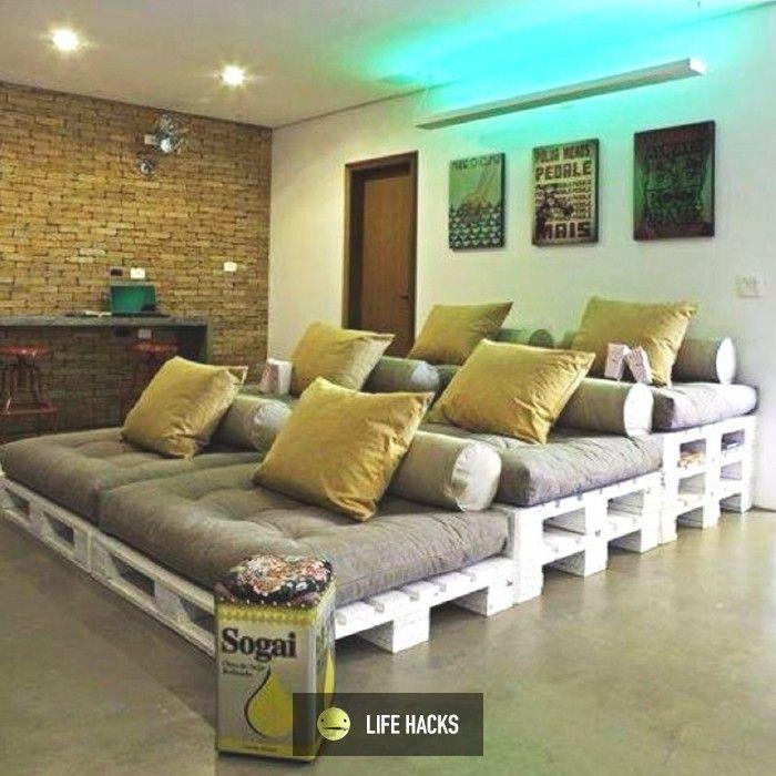 DIY pallet movie theater