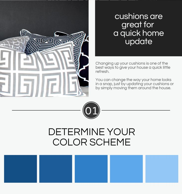 DECORATE WITH CUSHIONS