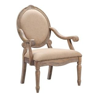 Shop for Madison Park Cole Beige Exposed Wood Arm Chair. Get free shipping at Overstock.com - Your Online Furniture Outlet Store! Get 5% in rewards with Club O! - 19530863