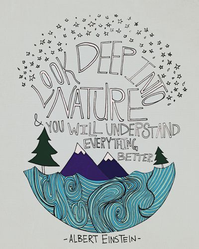 Einstein // Nature II Art Print by Leah Flores #Quote #art