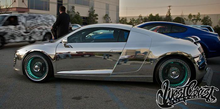Chrome Tron Audi R8 By West Coast Customs