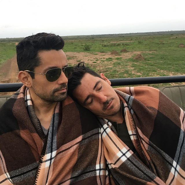 Jonathan Knight & fiance Harley Rodriguez Exhausted and busted! Payback for all the sleeping pics I snap of others on our trips.  #SAin21days