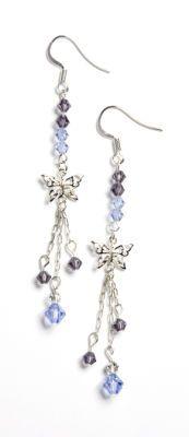 Crystazzi Blue Butterfly Earrings