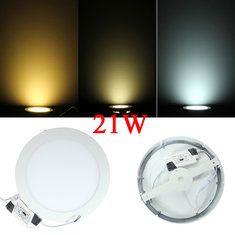 #Banggood 21вт круглые потолочные ультратонкие панели LED светильники лампы свет 85-265в (923243) #SuperDeals