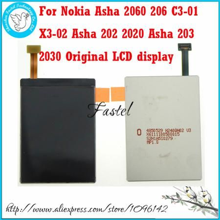 New original Mobile Phone LCD Display screen digitizer For Nokia Asha 2060 206 C3-01 X3-02 Asha 202 2020 Asha 203 2030 + Tools  — 494.77 руб. —