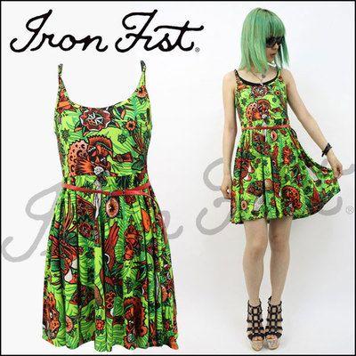 IRON FIST(アイアンフィスト)/Kokomoan Jersey Dress (GRN)