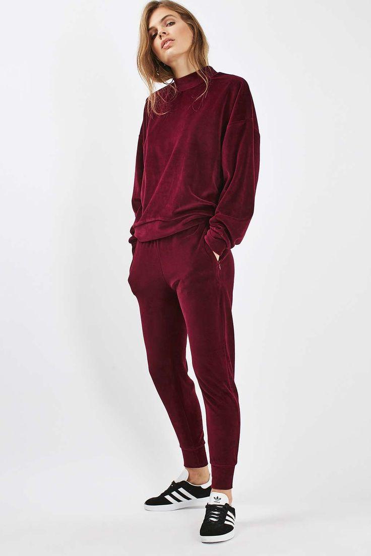 Velvet Batwing Sweatshirt - Tops - Clothing - Topshop