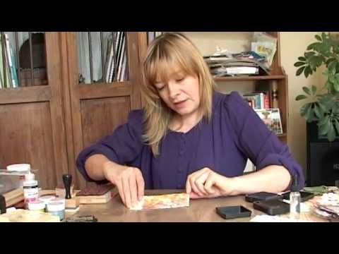 Stamping with Distress Inks - Part 2 - YouTube