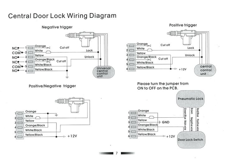 Door Lock Actuator Wiring Diagram Mes 5 Wire Great Central Locking New