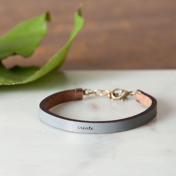 """Create"" Leather Bracelet - Magnolia Market 