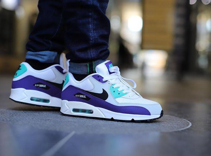 Nike Air Max 90 Essential 'Grape' White Jade Purple (2)   Nike air ...