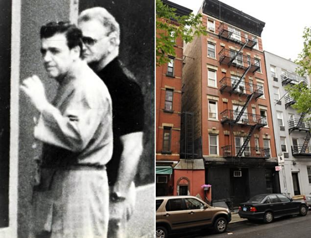 TRIANGLE CIVIC IMPROVEMENT ASSOCIATION -- 208 Sullivan St., ManhattanOnce a meeting place for Genovese boss Vincent (Chin) Gigante, who lived nearby with his mother and performed a decade-long crazy act roaming the streets of Greenwich Village in robe and slippers. Gigante is shown in photo in a more lucid state outside the club. Today the club is shuttered and padlocked, painted black over graffiti. A tenant of the building said it's been empty for years: 'I never see it open.' (Pictured…