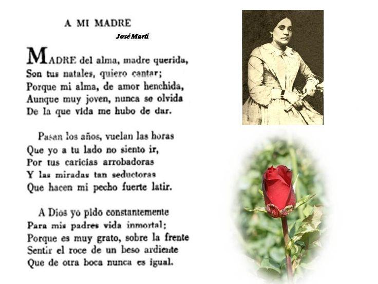 Poema escrito por el Apostol Jose Marti dedicado a su madre mientras estaba en prisión a los dieciséis años.