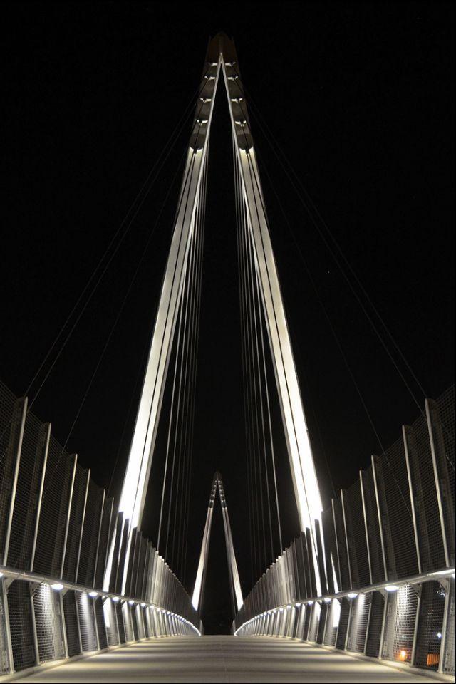 Mary Avenue Bridge in Cupertino, California