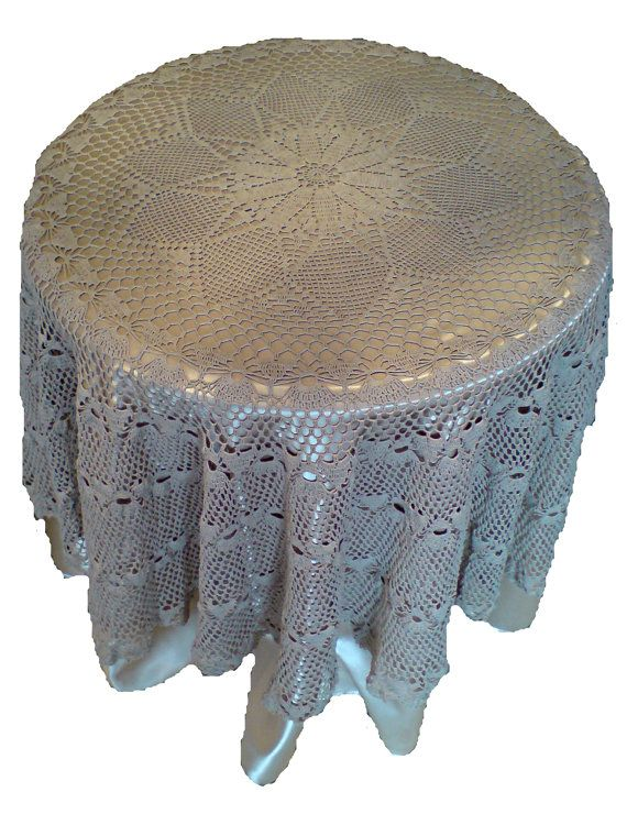 OOAK... Round tablecloth handmade crochet tablecloth by woolopia, $285.00