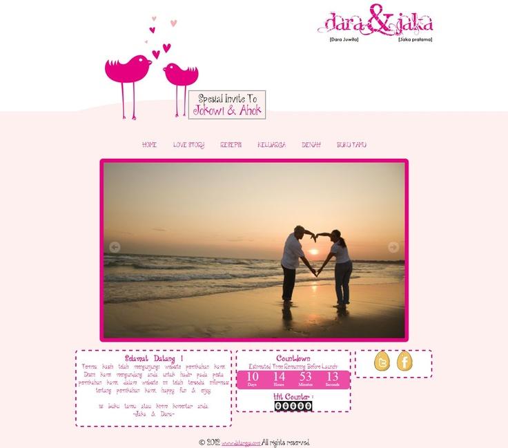 Template undangan pernikahan online tema Birdy