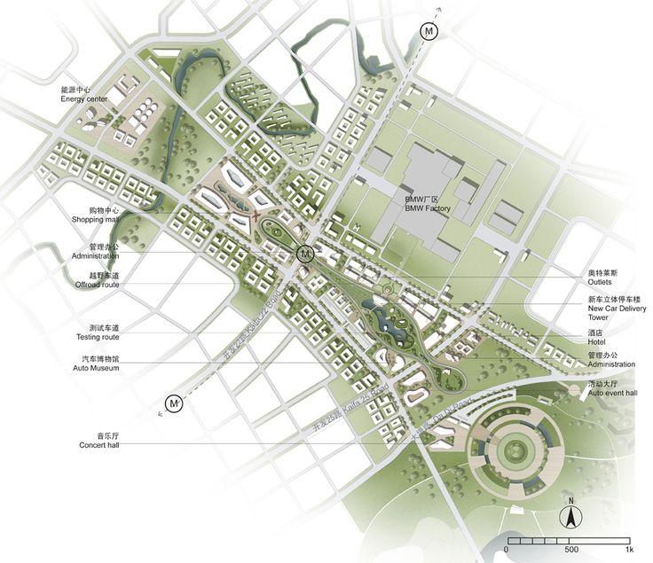 Städtebau Layout_'Shenyang International Automobile City' Winning Proposal / SBA International
