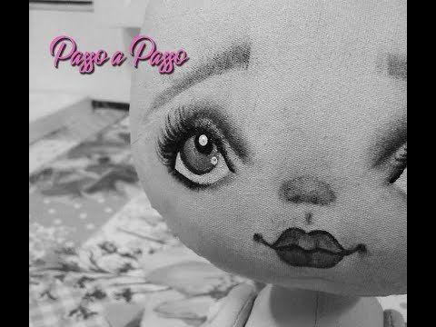 Pintura Rosto de Boneca de Pano - PAP - YouTube