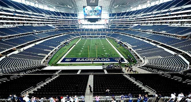 Cowboys Stadium- taking the Florida folks here....they do cool tours of locker rooms, field etc....