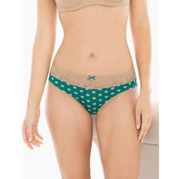 Soma Embraceable Lace High Leg Brief ($12) ❤ liked on Polyvore featuring intimates, panties, big dot green envy, brief, underwear & socks, lace panties, soma, soma panties, lacy panties and lace panty