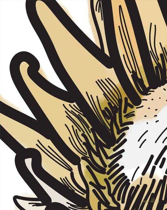 "Protea large wall art Modern protea print Printable wall art USE THE CODE ""HUNKYDORY"" TO RECEIVE 30% OFF!"
