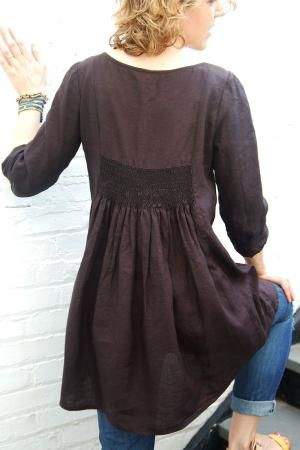 free tunic sewing patterns for women - Google Search (smocking detail) by berrin55