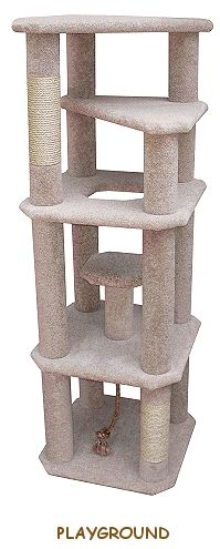 Trusted DIY Cat Condo Plans. This one looks pretty easy, though time consuming bc of all the pieces.