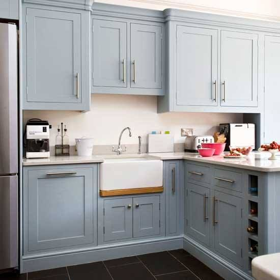 23 best keuken inspiratie woonwin kitchen images on for Blue gray kitchen cabinets