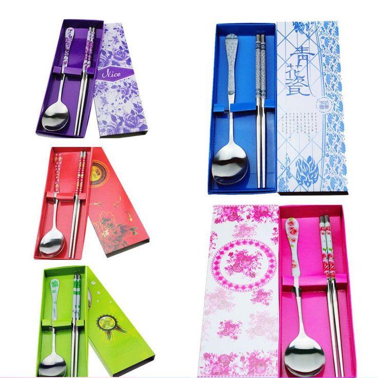 Chinese Chopsticks Spoon Kitchen Cutlery Set Bento Box Tableware Wedding Gift