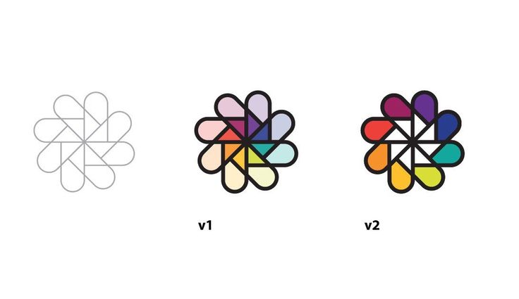 Two variations of the previous idea for the: logo & icon design for a colour search & swatch iOS app #brand #logodesign #logos #graphicdesign #ios #icon #app #colourful