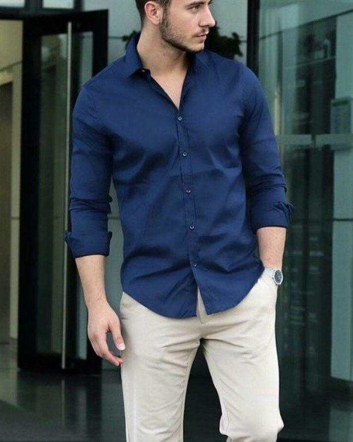 Camisa azul petróleo manga larga