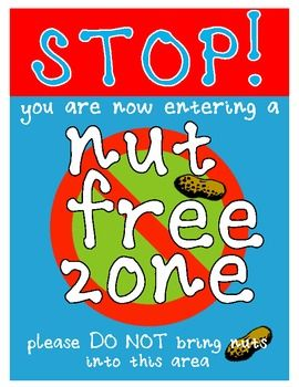 Nut Free / Peanut Free Zone Sign                                                                               More
