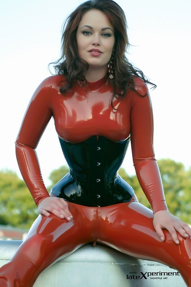 pictures of women in pvc latex