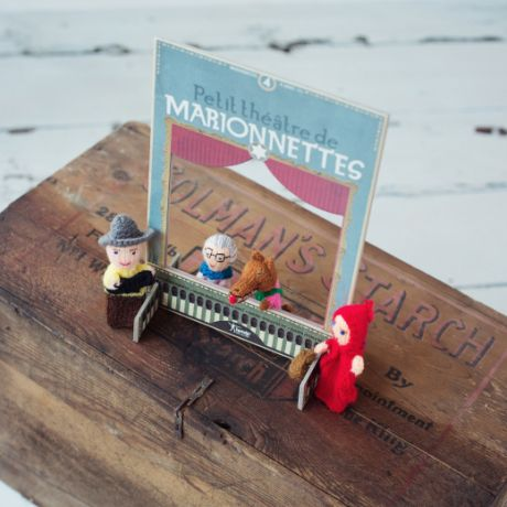 Marionetas de dedo en lana. Fabricación artesanal con el buen gusto de Londji!