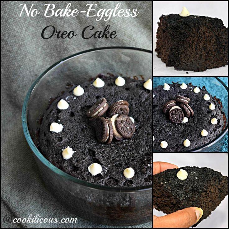 No Bake Eggless Oreo Cake - Easy Microwave Recipe (A Bonus Recipe Inside)%