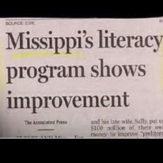 """Wow. Just wow.  I've always said Montana's mottto should be """"Thank God For Mississippi"""", because we are next to dead last in every survey nationally.....but this goes to show why we are 2nd at the bottom of the list!  :)"""