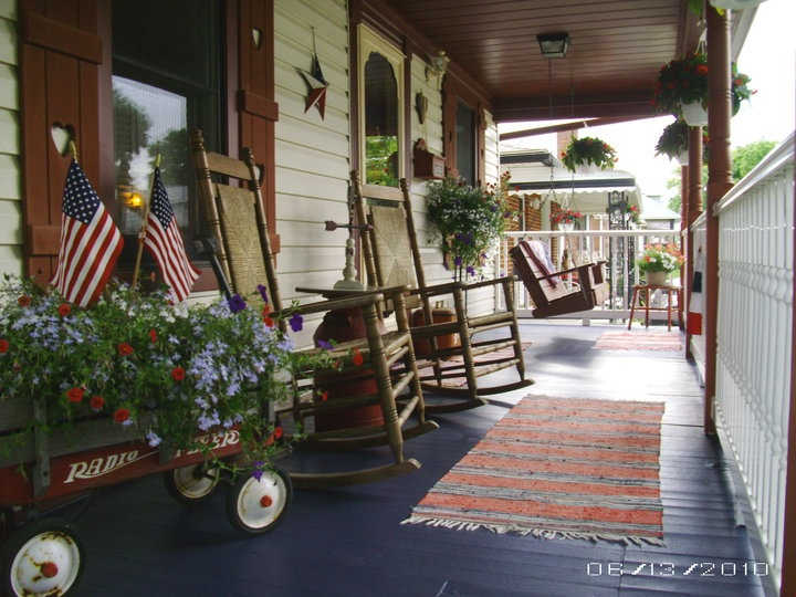 Our americana country front porch for the home for Country porch catalog