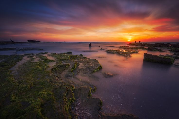 "Colorful Sunset - Sunset in Palmachim beach, Israel.  Follow me in <a href=""https://instagram.com/cristiankirshbom/"">Instagram</a> and <a href=""https://www.facebook.com/kirshbom"">Facebook</a>  Take a look on <a href=""http://www.cristiankirshbom.com/"">www.cristiankirshbom.com/</a>"